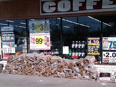 Convenience store firewood