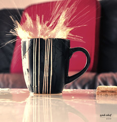 coffe splash (Ak!f) Tags: uk red colour cup splash coffe d90 colorphotoaward