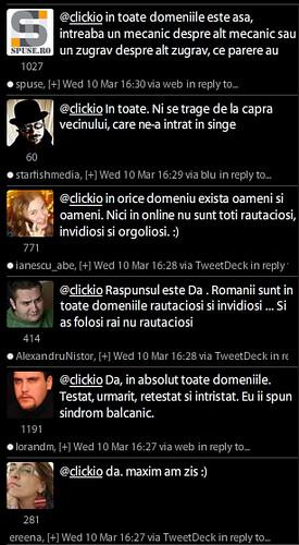Sondaj pe Twitter despre rautatea romanilor