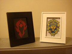 Horde and Alliance Insignia Cross Stitch (Frankengeek) Tags: wow computer crossstitch pattern videogame etsy horde alliance