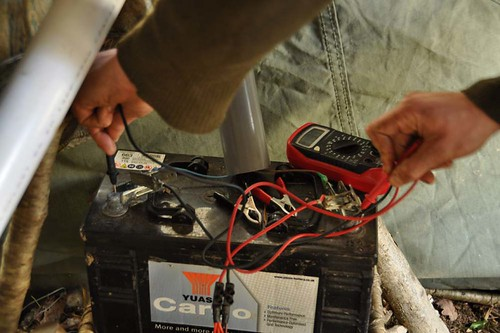Checking the voltage