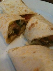 Thai Peanut Rolled Quesadilla