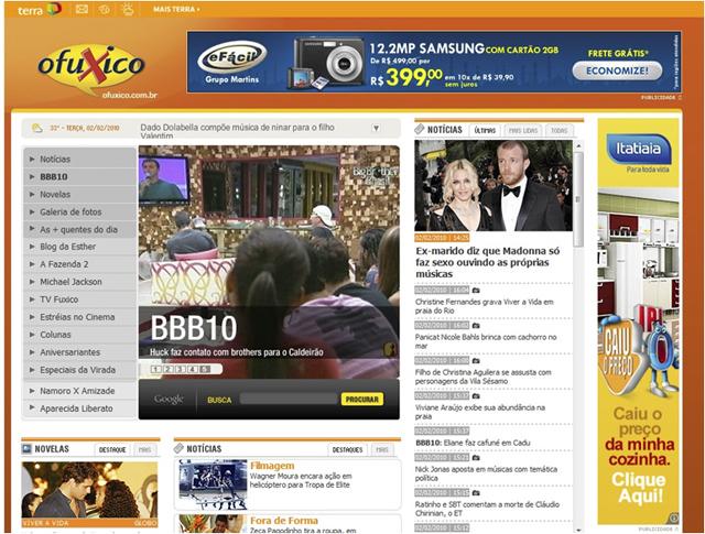 Banner no site Ofuxico.com.br