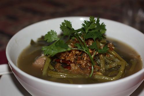 Spinach soup at Huen Phen Restaurant