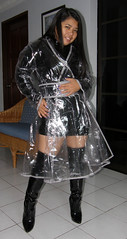 Classic Clear (johnerly03) Tags: black fashion asian high mac dress boots philippines clear thigh heel length raincoat pvc palstic erly flipina