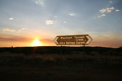 distances (Susana Fabian) Tags: road sunset sign dessert australia outback northenterritory
