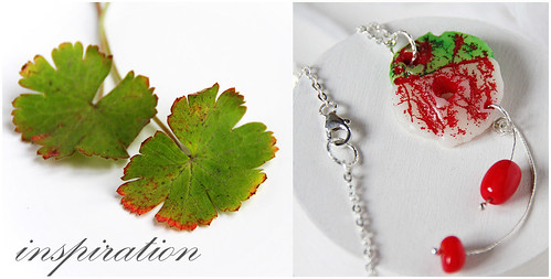 Berries - one of a kind pendant on sterling silver chain