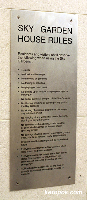 Pinnacle @ Duxton Sky Garden House Rules