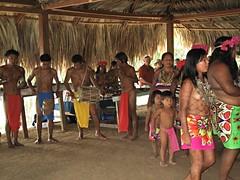 Embera Indian musicians & dancers, Panama (ali eminov) Tags: indigenouspeople embera emberaofpanama huts dances tribaldances tribalcostumes bodypainting children generations panama centralamerica katuma