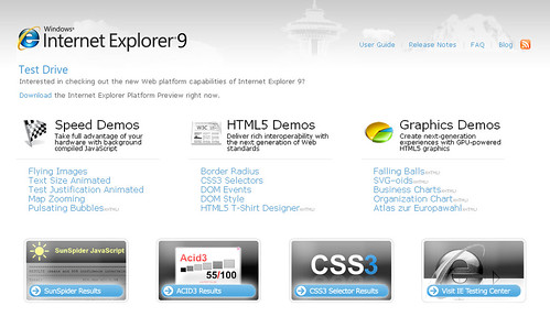 InternetExplorer9 Test Web