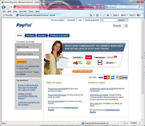 Exemple de site de Phishing