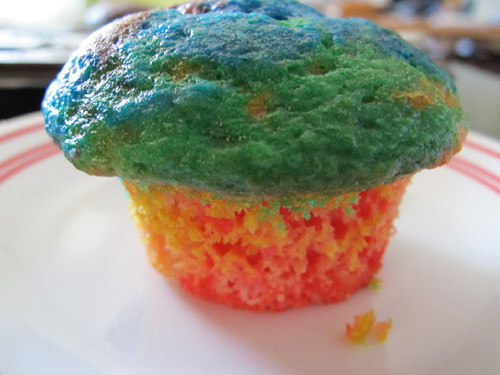 Rainbow Cupcakes for St. Patricks Day