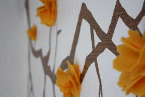 Fabric Flowers in Wall Decal