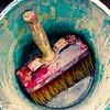 bucket & brush (-dubliner-) Tags: old blue red color bucket paint brush used colourful dubliner 500x500 specialpicture winner500