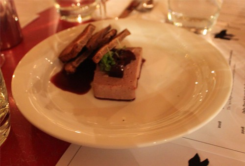 duck parfait with shiraz jelly