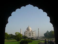 Taj Mahal window view  (wonder 2/7)