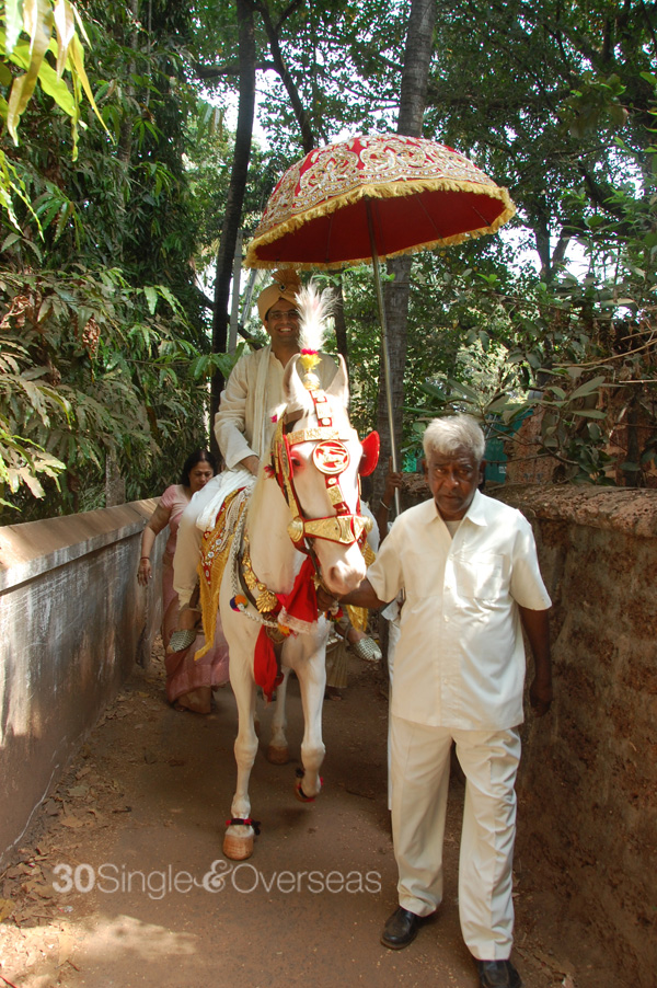On a horse to wed the bride