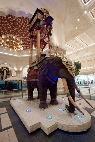 Elephant Clock India Court Dubai Ibn Battuta Mall