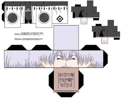 gin ichimaru - bleach papercraft