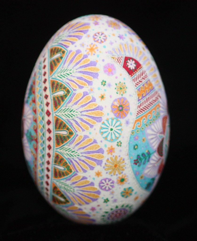 Goose Egg Pysanky Bird Design