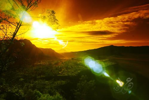 Cemoro Lawang at sunrise, Bromo-Tengger-Semeru National Park (IR)