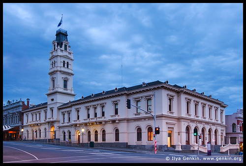 University of Ballarat at Twilight, Former Post Office, Ballarat, VIC, Australia