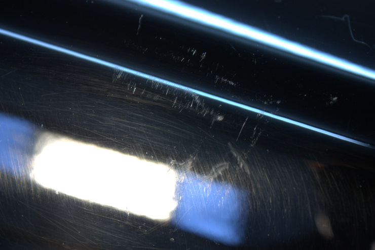 2008 Cadillac STS-V scratches