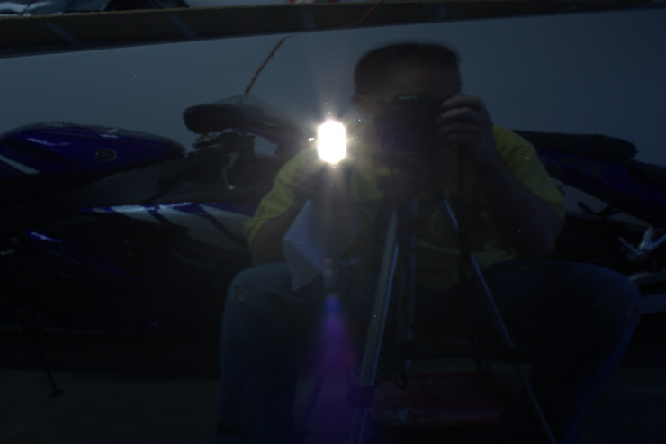 2008 Cadillac STS-V reflection