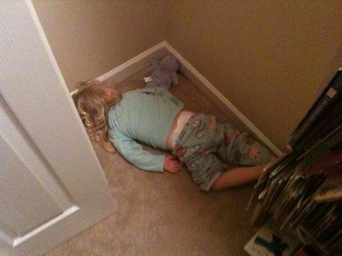 Sleeping in the closet