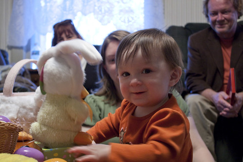 Hannie and her Easter bunny