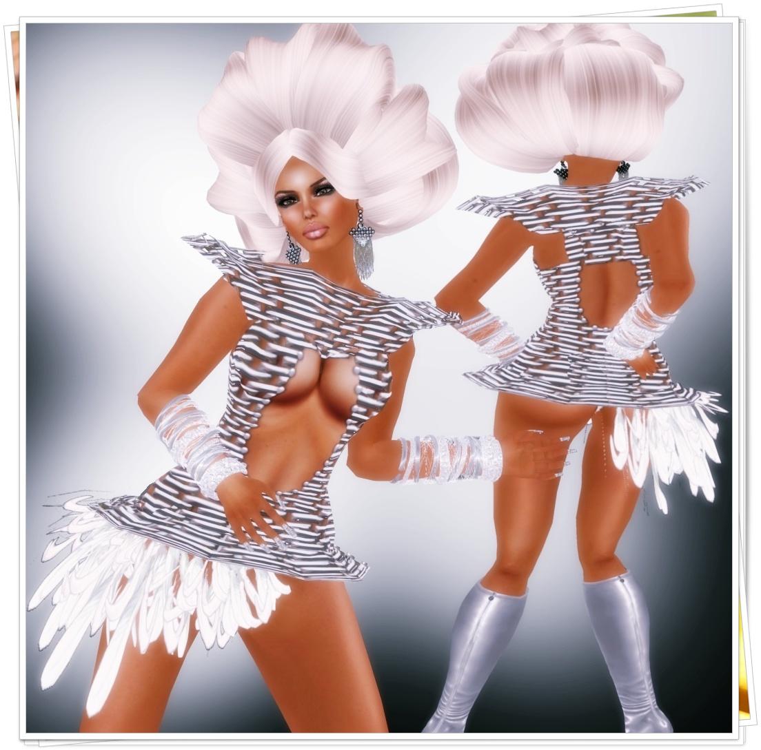 A&A FAshion Brisse Mini Dress Silver