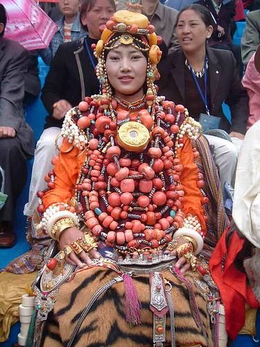 Very bejewelled khampa girl (1 of 2)