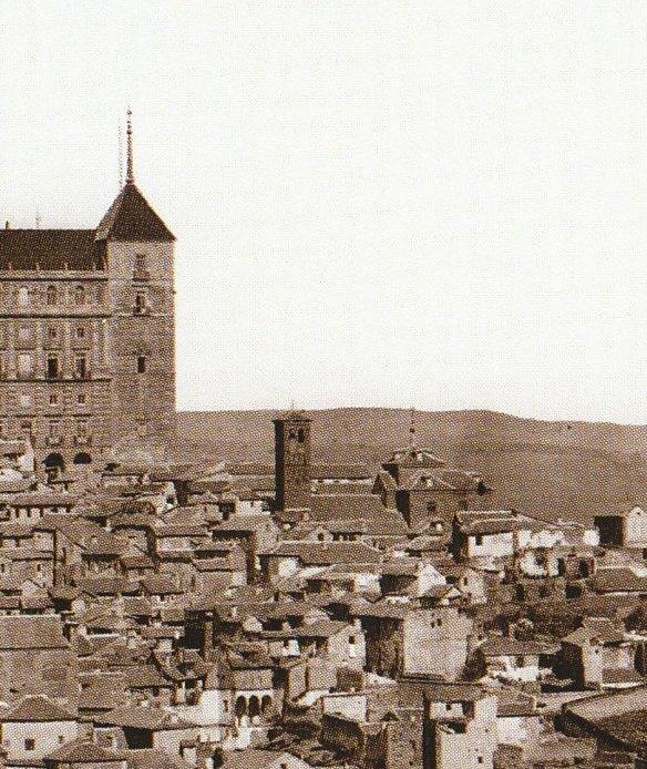 Iglesia de San Miguel el Alto en 1872. Fotografía de Jean Laurent (detalle)