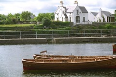 Twin boats on Galway river