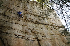 20100404_New River Gorge - Day 2 - Long Wall - Chewy, 5.10b _008 (monkey_vet) Tags: chewy rockclimbing newrivergorge longwall 510b