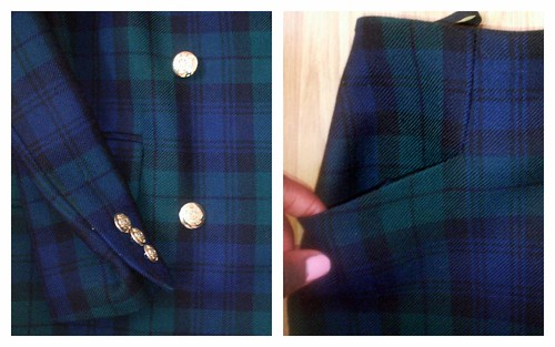 Details of Plaid Skirt Suit