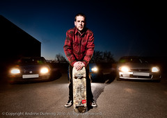 Mike B + Cars (Andy Dunning) Tags: lighting skate skateboard mikebennett 2010 d300 hartlepool wirelessflash strobist nikoncls andrewdunning
