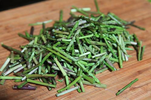 Fresh wild aspargus