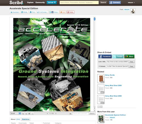 TARDEC magazine on scribd