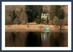 Boat House (Mac ind g) Tags: blue winter house reflection abandoned ice walking landscape scotland boat frozen framed loch milton wreck trossachs ard thetrossachs lochard lochlomondandthetrossachsnationalpark