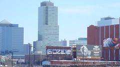 GOZE (toxic waste dump) Tags: city rooftop skyline graffiti newjersey nj dirty jersey graff bombing jerz