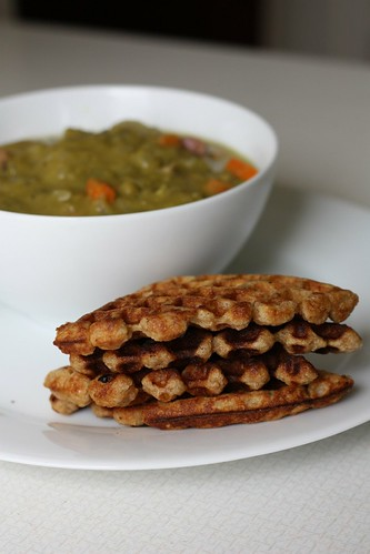 Hammy Split Pea Soup and Multigrain Waffles
