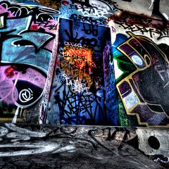 Leeside Skatepark Graffiti 6642 (Kyle Bailey - Da Big Cheeze) Tags: street city urban inspiration streetart color colour art wall vancouver canon graffiti intense saturated artist colours bc bright drawings style tunnel professional example walkway vandalism spraypaint graff piece inspire tagging hdr highdynamicrange bombing gangs defacement critique selfexpression leeside matasi leematasi kylebailey rookiephoto dabigcheeze wwwrookiephotocom