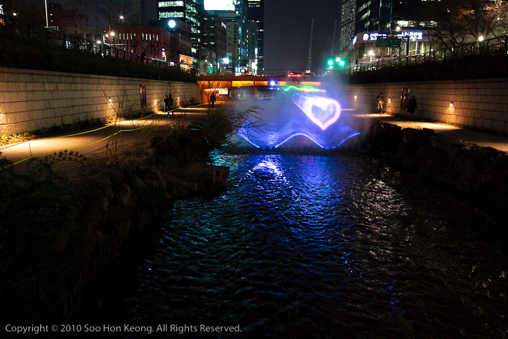 From Seoul with Love @ Cheonggye Stream. Seoul, Korea