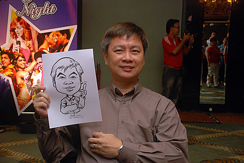caricature live sketching for Panasonic Factory Solutions D&D - 1