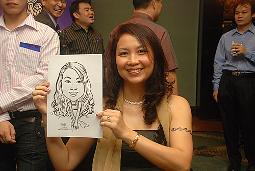 caricature live sketching for Panasonic Factory Solutions D&D -5