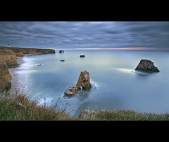 Tropical Whitburn (Reed Ingram Weir) Tags: longexposure seascape grass sunrise nikon arches tropical bigsky northeast seastacks whitburn cliffedge bigcolour nearlighthouse d700 1424mm reedingramweir leexprofilters notnortheast