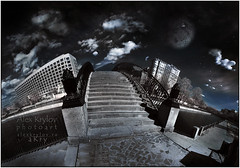 Another World Bridge (a.Kry) Tags: city bridge blue urban black building art nature water river lens ir spring day russia moscow sigma countries toned canondslr canoneos mystic anotherworld falsecolor falsecolour  cokin      89a     sigma1020    fauxcolor  cokinp007 p007  convertedcamera infraredphoto    yauzariver unknownmoscow lightroomart 1000d   canoneos1000d akryphotoart