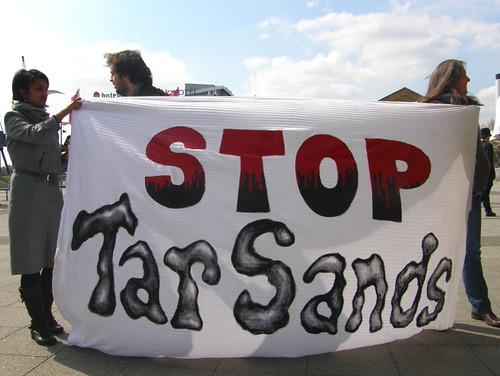 No Tar Sands Banner