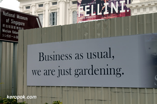 Business as usual, we are just gardening